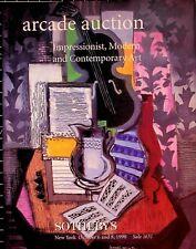 Sotheby's Arcade Auction 1631 Impressionist, Modern & Contemporary Art,  10/1998