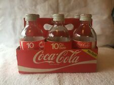 VINTAGE COLLECTIBLE COCA-COLA 10OZ BOTTLES 6 PACK IN CARRIER