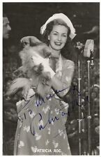 PATRICIA ROC - INSCRIBED POST CARD SIGNED