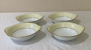 """Noritake """"Annulaire"""" Lugged Cereal Bowls Set Of 4 # 6689 Made in Japan"""