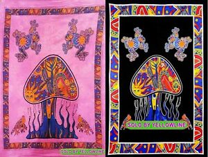 2 piece Mushroom Tapestry Bohomen Indian Wall Hanging Wholesale (77cmX102cm)PB-5