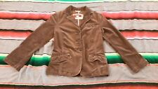 Womens Solid Brown Hollister Long Sleeve Jeans Jacket Cotton Spandex Size MEDIUM