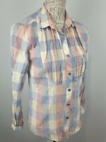 Wrangler Multicolored Long Sleeve Button Up Shirt Ladies 8