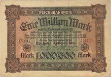 1923 1 MILLION MARK GERMANY CURRENCY REICHSBANKNOTE GERMAN BANKNOTE NOTE BILL