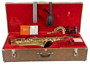 C.G. Conn 10M Naked Lady professional tenor saxophone 1942 Orginial Case NICE
