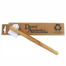 Denture Brush ~ Bamboo, Plastic-Free, Firm Double Sided Toothbrush, for Cleaning