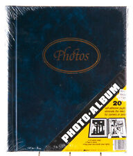 Vintage Photo Album K Mart Navy Blue Marble 20 Page Self Adhesive FACTORY SEALED