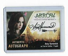 Arrow Season 4  Autograph card AG Amy Gumenick as Carrie Cutter / Cupid Variant