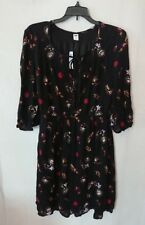 Women's Black Floral Flowing Old Navy Dress Size Small