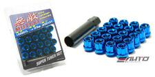 SPLINE 21mm MUTEKI WHEEL LOCK LUG NUT 12x1.5 M12 P1.5 BLUE OPEN END w/ key b