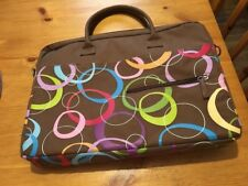 Jack!e Jacqueline Savage McFee Laptop Bag Brown Canvas Travel Bag or Tote!