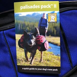 Ruffwear Palisades Dog Gear Pack with Dual Saddlebags -LARGE BLUE NWT Reflective