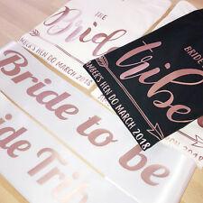 ROSE GOLD Bride Tribe Hen Party Tshirts OR Sash Wedding Bachelorette Bridesmaid