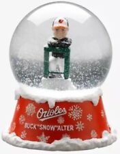 "SGA Buck ""Snow"" Alter Showalter Snow Globe Baltimore Orioles 6/25/2018 Brand New"
