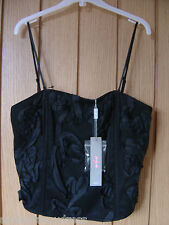 M & S Per Una Black Corset Bodice NEW Size 10 (tags) RRP £29.50 (Ref Z) Ex Con