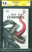 Edge of Venomverse 1 CGC 9.SS Original art sketch 9.8 Venom vs Spider Man Movie
