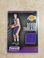 Ivica Zubac Panini Threads 2016-2017 Debut Threads Jersey RC Los Angeles Lakers