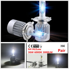 2x C6 H4 High Low 12V 36W Car LED Headlight Kit 6000K 3800LM Super Bright Bulbs