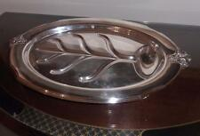 Vintage,. Wonderful Silver Meat Serving Tray . Oval. Beautiful