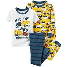 Carters Baby Boys 4 Pc Cotton Construction Trucks 6 Months