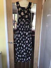 "APRICOT Vintage Rose Chiffon Maxi Dress Size M/L Bust- 36"" BNWT'S £32"