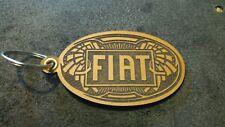 Leder Schlüsselanhänger Fiat Lasergravur