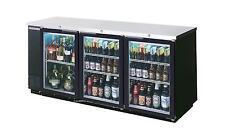 Beverage Air 72 Sliding Glass Door Back Bar Cooler Black Ext 2 Ss Top