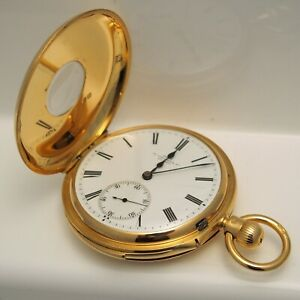 Dent 1895 18ct Yellow Gold Minute Repeater Pocket Watch - 152.1g