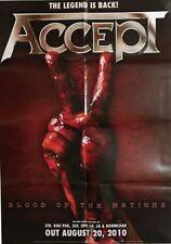 ACCEPT - Blood Of The Nations - Promo Poster - gefaltet / folded - Sammlerstück