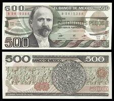 Méjico - Mexico 500 Pesos 7-8-1984  Pick 79b  (Serie EB) SC = UNC