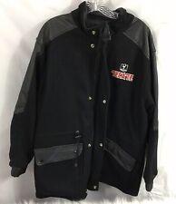 Tecate Beer Mens Black Snap on Full zip up jacket Size Medium