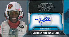 Topps Star Wars The Force Awakens 3D Wide-vision Tosin Cole Auto Card WVA-TC