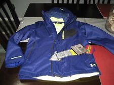 GIRLS YOUTHS Under Armour COLDGEAR INFRARED STORM 2 jacket YMD MEDIUM BLUE NWT
