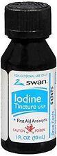 Swan Iodine Tincture First Aid Antiseptic