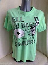 Fishbone  Shirt / Bluse grün mit Motiv Gr. M