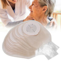 10pcs One‑Piece Silicone Colostomy Bag Skin‑Friendly Ostomy Bag Pouches