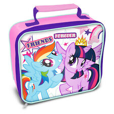 NEW MY LITTLE PONY RECTANGLE INSULATED KIDS SCHOOL LUNCH BAG BOX NEW XMAS GIFT