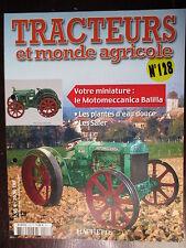 FASCICULE 128 TRACTEURS ET MONDE AGRICOLE  MOTOMECCANICA BALILLA SEMOIR EN LIGNE