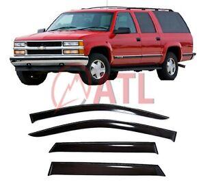 For Chevrolet Suburban IX 1992-1999 Window Visors Sun Rain Guard Vent Deflectors