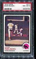 1973 Topps Baseball #111 DAVE NELSON Texas Rangers PSA 8 NM-MT