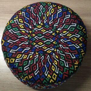 New Turkmen yomut tahya headwear Central Asia red national tubeteika headdress