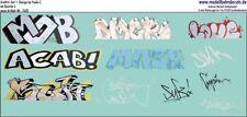 Graffiti-Set 6, Design by Paule Z., 11 bunte Elemente (087-7420)