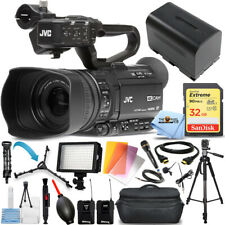 Jvc Gy-Hm250 Uhd 4K Streaming Camcorder + 32Gb + Led Light + Tripod Bundle
