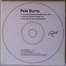 PETE BURNS * JACK AND JILL PARTY * LIMITED UK 3 TRK CD * HTF! * PET SHOP BOYS