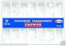Dental Transparent Crown Posterior matrices matrix  64 pcs