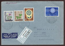 ICELAND 1965 AIR REGISTERED COVER to GERMANY 4 COLOUR FRANKING