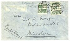 NED INDIE  1935-10-26  FLIGHT  COVER  TO  GERMANY    FINE!!