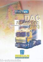 Roman DAC 26.410 DFS 6x4 DAC Prospekt GB 1998 6/98 truck brochure prospectus