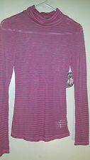 Girls Heart Soul Pink & Gray Shirt Top Size Medium 100% Cotton  Long Sleeve