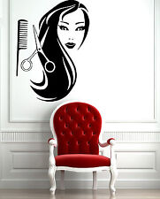 Wall Stickers Vinyl Decal Fashion Female Face Hot Sexy Hair Spa Salon Mural z597